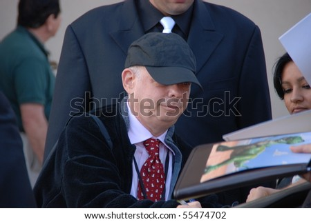 HOLLYWOOD, CA - JUNE 13: Actor Wallace Shawn at the World Premiere of Disney/Pixar's 'Toy Story 3' on June 13, 2010 at the El Capitan Theatre in Hollywood, California. - stock photo