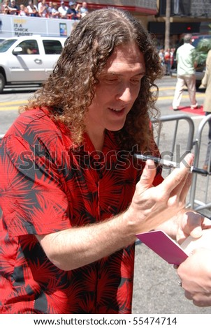 HOLLYWOOD, CA - JUNE 13: Singer Weird Al Jankovic at the World Premiere of Disney/Pixar's 'Toy Story 3' on June 13, 2010 at the El Capitan Theatre in Hollywood, California. - stock photo
