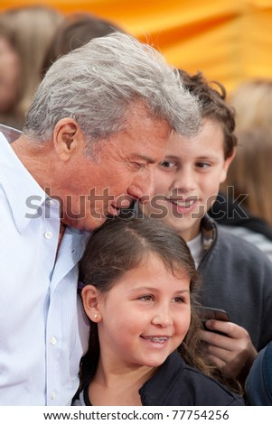 HOLLYWOOD, CA. - MAY 22: Dustin Hoffman arrives at the Los Angeles premiere of Kung Fu Panda 2 at Grauman's Chinese  Theatre on May 22, 2011 in Hollywood, California.