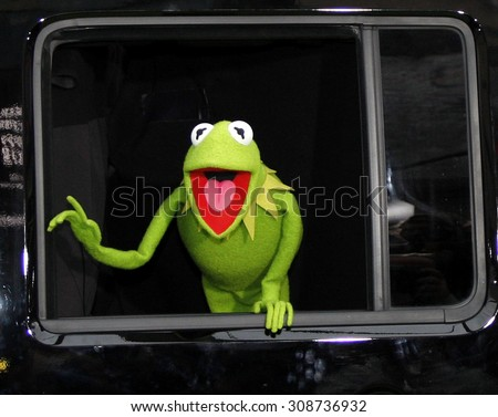 HOLLYWOOD, CA  - NOVEMBER 12, 2011. Kermit The Frog at the World premiere of 'The Muppets' held at El Capitan Theater in Hollywood, USA on November 12, 2011. - stock photo