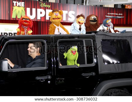 HOLLYWOOD, CA  - NOVEMBER 12, 2011. The Muppets at the World premiere of 'The Muppets' held at El Capitan Theater in Hollywood, USA on November 12, 2011.
