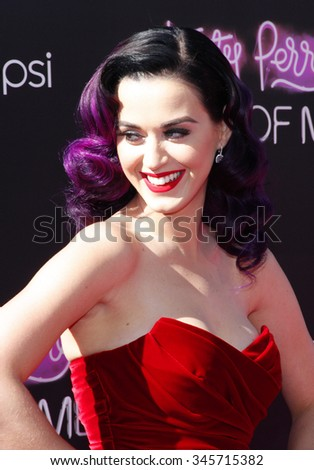 "HOLLYWOOD, CA, USA - JUNE 26, 2012. Katy Perry at the Los Angeles premiere of ""Katy Perry: Part Of Me"" held at the Grauman's Chinese Theater in Hollywood. - stock photo"