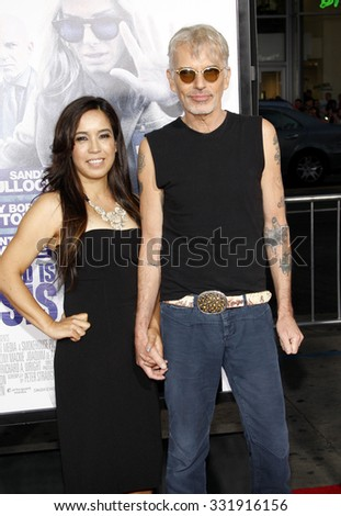 HOLLYWOOD, CA, USA - OCTOBER 26, 2015: Connie Angland and Billy Bob Thornton at the Los Angeles premiere of 'Our Brand Is Crisis' held at the TCL Chinese Theatre in Hollywood. - stock photo