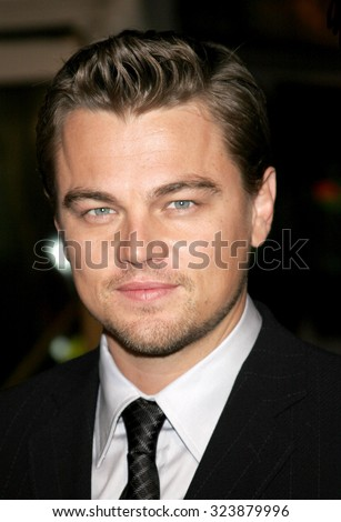 HOLLYWOOD, CALIFORNIA. December 6, 2006. Leonardo DiCaprio at the Los Angeles premiere of 'Blood Diamond' held at the Grauman's Chinese Theatre in Hollywood, USA on December 6, 2006. - stock photo