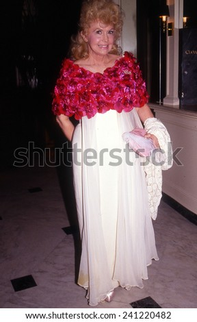 HOLLYWOOD, CALIFORNIA - exact date unknown - circa 1990 - Donna Douglas of the Beverly Hillbillies arrives at a celebrity event - stock photo
