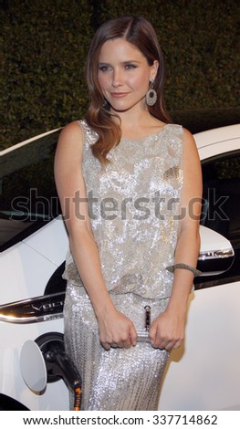 HOLLYWOOD, CALIFORNIA - February 22, 2012. Sophia Bush at the Global Green USA's 9th Annual Pre-Oscar Party held at the Avalon Hollywood, Los Angeles. - stock photo