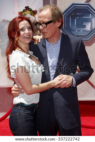 "HOLLYWOOD, CALIFORNIA - July 19, 2009. Kelli Garner and Bill Nighy at the Disney World Premiere of ""G-Force"" held at the El Capitan Theater, Hollywood."
