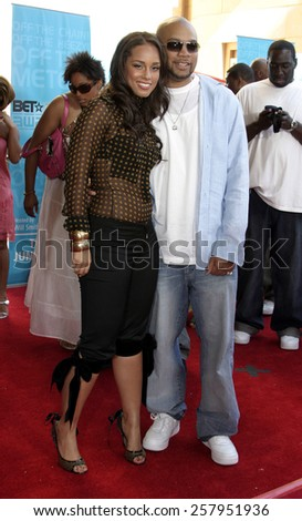 HOLLYWOOD, CALIFORNIA - June 28 2005. Alicia Keys attends at the 2005 BET Awards at the Kodak Theater in Hollywood, California.  - stock photo