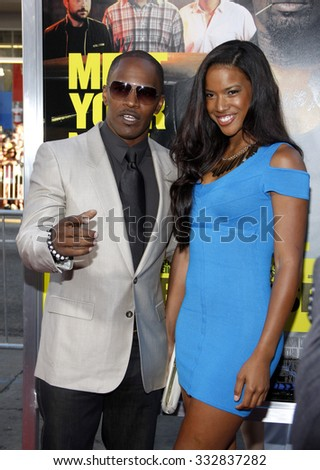 "HOLLYWOOD, CALIFORNIA - June 30, 2011. Jamie Foxx at the Los Angeles premiere of ""Horrible Bosses"" held at the Grauman's Chinese Theater, Los Angeles."