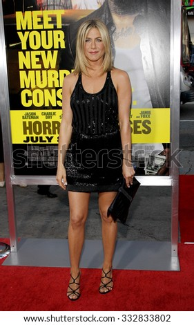 "HOLLYWOOD, CALIFORNIA - June 30, 2011. Jennifer Aniston at the Los Angeles premiere of ""Horrible Bosses"" held at the Grauman's Chinese Theater, Los Angeles."