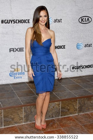 "HOLLYWOOD, CALIFORNIA - June 6, 2011. Minka Kelly at the Spike TV's 5th Annual 2011 ""Guys Choice"" Awards held at the Sony Pictures Studios, Los Angeles."