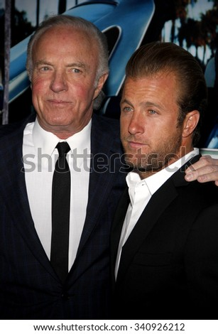 """HOLLYWOOD, CALIFORNIA - March 22, 2011. James Caan and Scott Caan at the Los Angeles premiere of """"His Way"""" held at the Paramount Studios, Los Angeles.  - stock photo"""