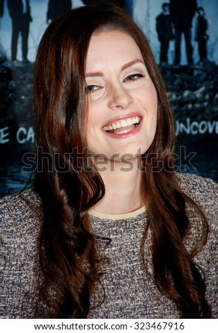 HOLLYWOOD, CALIFORNIA - March 26, 2012. Jamie Anne Allman at the Los Angeles Season 2 premiere of AMC's 'The Killing' held at the ArcLight Cinemas in Hollywood. - stock photo