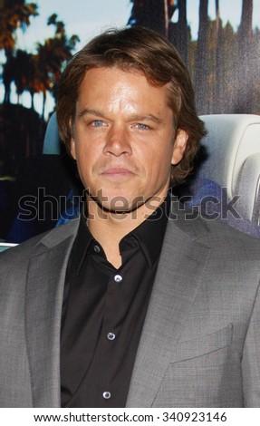 "HOLLYWOOD, CALIFORNIA - March 22, 2011. Matt Damon at the Los Angeles premiere of ""His Way"" held at the Paramount Studios, Los Angeles.  - stock photo"