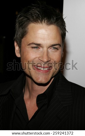 "HOLLYWOOD, CALIFORNIA. March 16, 2006. Rob Lowe attends the Los Angeles Premiere of ""Thank You For Smoking"" held at the Directors Guild Of America in Hollywood, California United States."