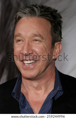 "HOLLYWOOD, CALIFORNIA. March 7, 2006. Tim Allen attends the Walt Disney's World Premiere of ""The Shaggy Dog"" held at the El Capitan Theatre in Hollywood, California United States."