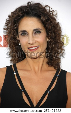 "HOLLYWOOD, CALIFORNIA - Monday May 1, 2010. Melina Kanakaredes at the 5th Annual ""A Fine Romance"" Benefit held at the Fox Studio Lot, Hollywood."