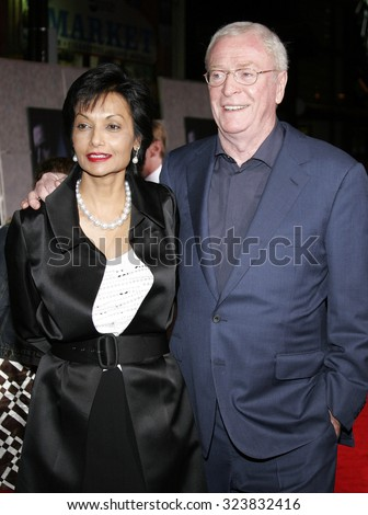 HOLLYWOOD, CALIFORNIA. October 17, 2006. Michael Caine at the World premiere of 'The Prestige' held at the El Capitan Theatre in Hollywood, USA on October 17, 2006. - stock photo