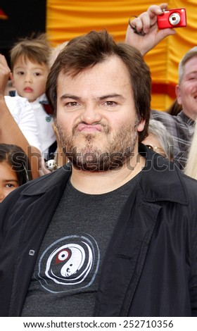 "HOLLYWOOD, CALIFORNIA - Sunday May 22, 2011. Jack Black at the Los Angeles premiere of ""Kung Fu Panda 2"" held at the Grauman's Chinese Theater, Los Angeles.  - stock photo"