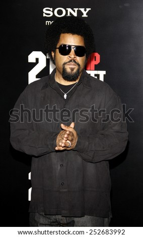 "HOLLYWOOD, CALIFORNIA - Tuesday March 13, 2012. Ice Cube at the Los Angeles premiere of ""21 Jump Street"" held at the Grauman's Chinese Theater, Los Angeles.  - stock photo"