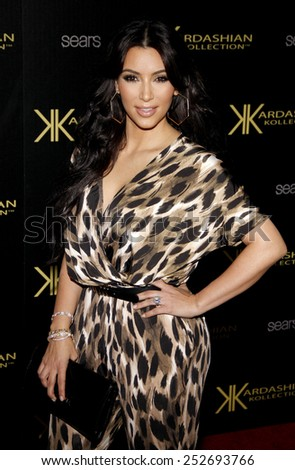 HOLLYWOOD, CALIFORNIA - Wednesday August 17, 2011. Kim Kardashian at the Kardashian Kollection Launch Party held at the Colony, Los Angeles. - stock photo