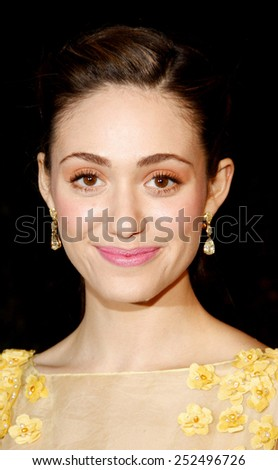 HOLLYWOOD, CALIFORNIA - Wednesday February 22, 2012. Emmy Rossum at the Global Green USA's 9th Annual Pre-Oscar Party held at the Avalon Hollywood, Los Angeles. - stock photo