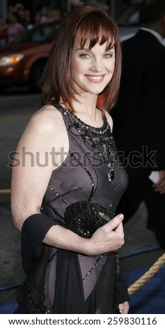 """HOLLYWOOD, CALIFORNIA. Wednesday May 10, 2006. Pamela Sue Martin attends the Los Angeles Premiere of """"Poseidon"""" held at the Grauman's Chinese Theater in Hollywood, California United States.  - stock photo"""