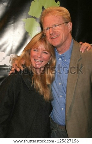 "HOLLYWOOD - DECEMBER 21: Cheryl Tiegs and Ed Begley Jr. at the premiere screening of ""Living With Ed"" on December 21, 2006 at Sunset Laemmle Theatre in West Hollywood, CA."