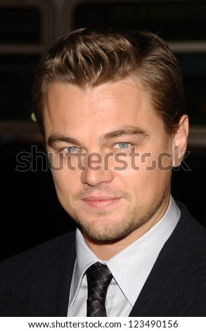 "HOLLYWOOD - DECEMBER 06: Leonardo DiCaprio at the premiere of ""Blood Diamond"" Grauman's Chinese Theatre December 06, 2006 Hollywood, CA. - stock photo"