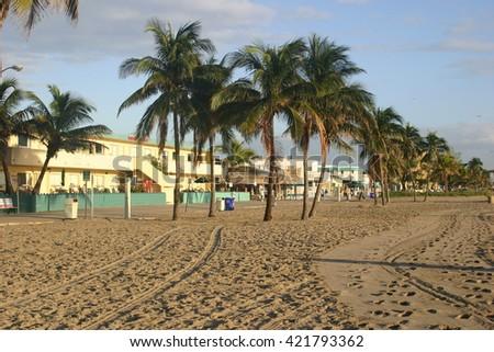 Hollywood Florida Beach - stock photo