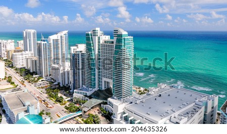 HOLLYWOOD,FLORIDA - OCTOBER 25:Hollywood in Broward County, Florida on october 25,2010.As of the 2010 U.S. Census, it had a population of 140,768. It is the twelfth largest city in Florida - stock photo