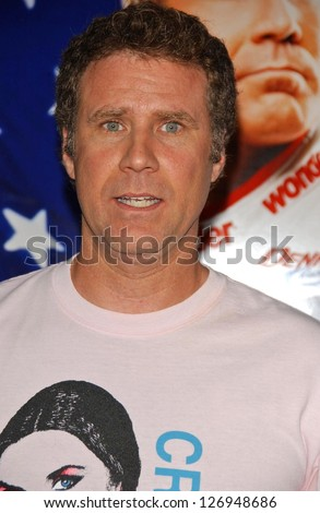 "HOLLYWOOD - JULY 26: Will Ferrell at the Premiere Of ""Talladega Nights: The Ballad Of Ricky Bobby"" at Graumans Chinese Theatre July 26, 2006 in Hollywood. - stock photo"