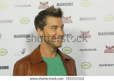 HOLLYWOOD - MAY 9, 2012:Dancer/actor Lance Bass walks the red carpet for the premiere of Mansome held at the Arclight Theatre May 9, 2012 Hollywood, CA. - stock photo