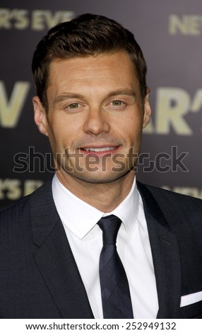 "HOLLYWOOD, USA - DECEMBER 5: Ryan Seacrest at the Los Angeles Premiere of ""New Year's Eve"" held at the Grauman's Chinese Theatre in Los Angeles, USA on December 5, 2011. - stock photo"