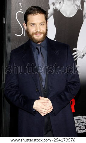 """HOLLYWOOD, USA - FEBRUARY 8: Tom Hardy at the Los Angeles Premiere of """"This Means War"""" held at the Grauman's Chinese Theatre in Los Angeles, USA on February 8, 2012. - stock photo"""