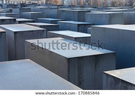 Holocaust Memorial, Berlin, Germany. - stock photo