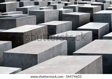 Holocaust Memorial, Berlin, Germany - stock photo