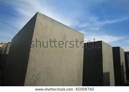 Holocaust memorial in Berlin, Germany - stock photo