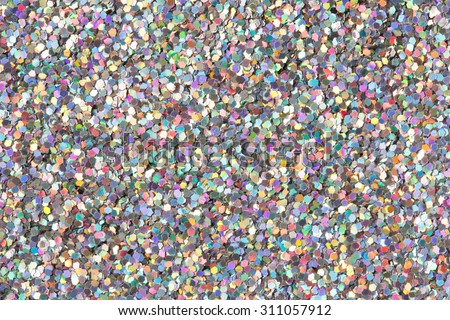 Holographic glitter texture. - stock photo