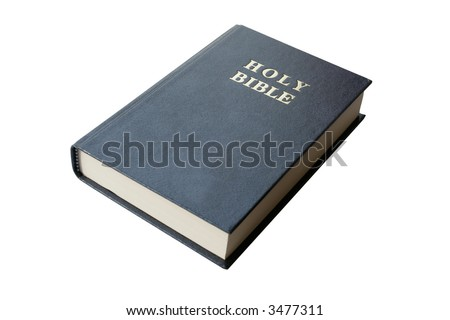 Holy Bible isolated on pure white background