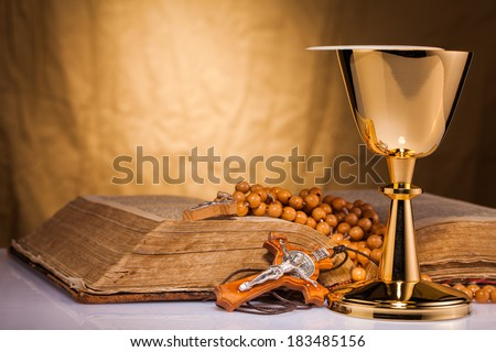 holy communion - stock photo