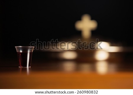 Holy Communion Service - stock photo