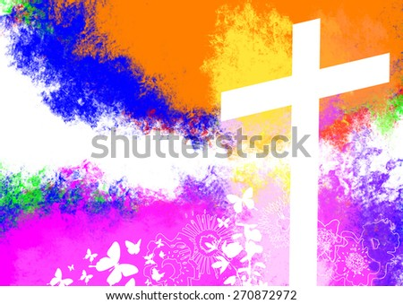 Holy Cross Background - stock photo