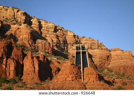 Holy Cross Chapel - Sedona, Arizona - stock photo