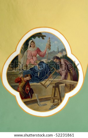 Holy Family - stock photo