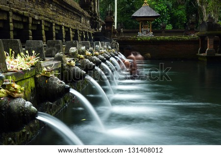 Holy Spring Water Temple - stock photo