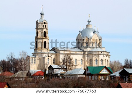 Holy Trinity Church of Russia, Ryazan region, Kasimov district, town of Gus-iron. Monument Romanticism abroad XVIII-XIX century
