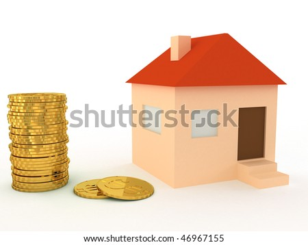 home and gold coins