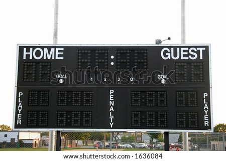 Home and Guest Scoreboard - stock photo