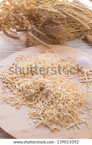 home-baked noodles